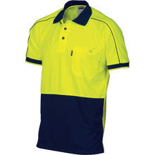 Load image into Gallery viewer, HiVis Cool-Breathe Double Piping Polo - Short Sleeve - 3573