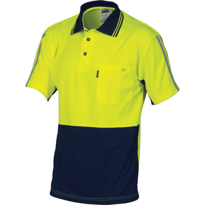 HiVis Cool-Breathe Stripe Polo - Short Sleeve - 3755