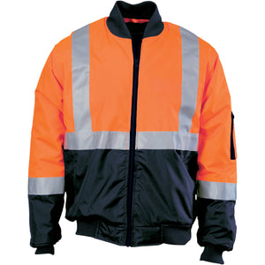 HIVIS 2 TONE BOMBER JACKET WITH CSR R/TAPE - 3762
