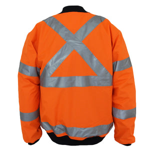 "HiVis ""X"" back flying jacket Biomotion tape - 3763"