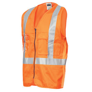 Day/Night Cross Back Cotton Safety Vests with CSR R/Tape - 3810