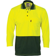 Load image into Gallery viewer, HiVis Two Tone Cool Breathe Polo Shirt, 3/4 Sleeve - 3812