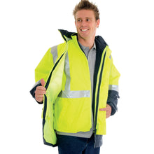 Load image into Gallery viewer, 4 in 1 HiVis Two Tone Breathable Jacket with Vest and 3M R/Tape - 3864
