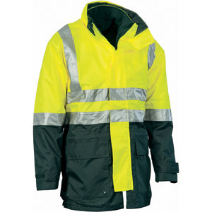 4 in 1 HiVis Two Tone Breathable Jacket with Vest and 3M R/Tape - 3864