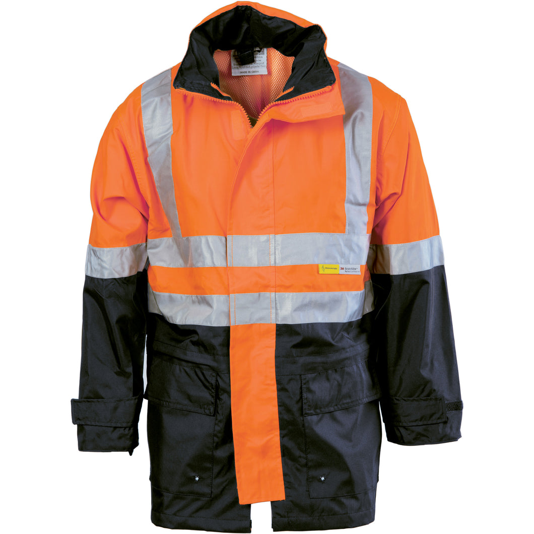 HiVis Two Tone Breathable Rain Jacket with 3M R/ Tape - 3867