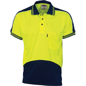 HiVis Cool Breathe Panel Polo Shirt - Short Sleeve - 3891