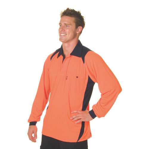 Cool Breathe Action Polo Shirt - Long Sleeve - 3894