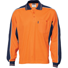 Load image into Gallery viewer, Poly/Cotton Contrast Panel Polo - long Sleeve - 3896