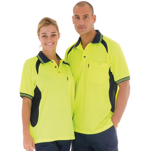 Cool-Breeze Contrast Mesh Polo - short sleeve - 3901