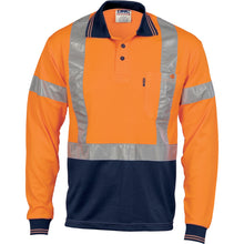 Load image into Gallery viewer, Hivis D/N Cool-Breathe Polo Shirt With Cross Back R/Tape - Long Sleeve - 3914