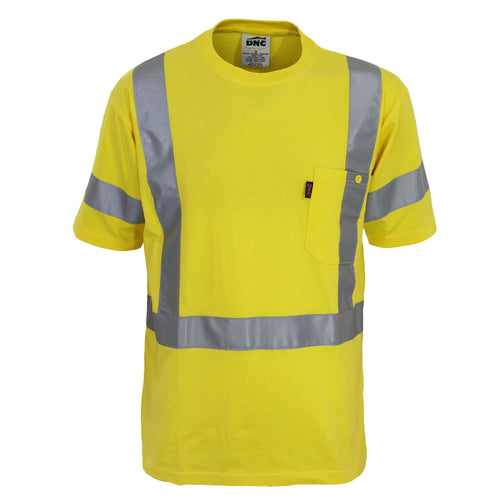 Hi-Vis Cotton taped Tee Short Sleeve - 3917