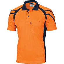 Load image into Gallery viewer, Cool Breathe Stripe Panel Polo Shirt - Short Sleeve - 3979