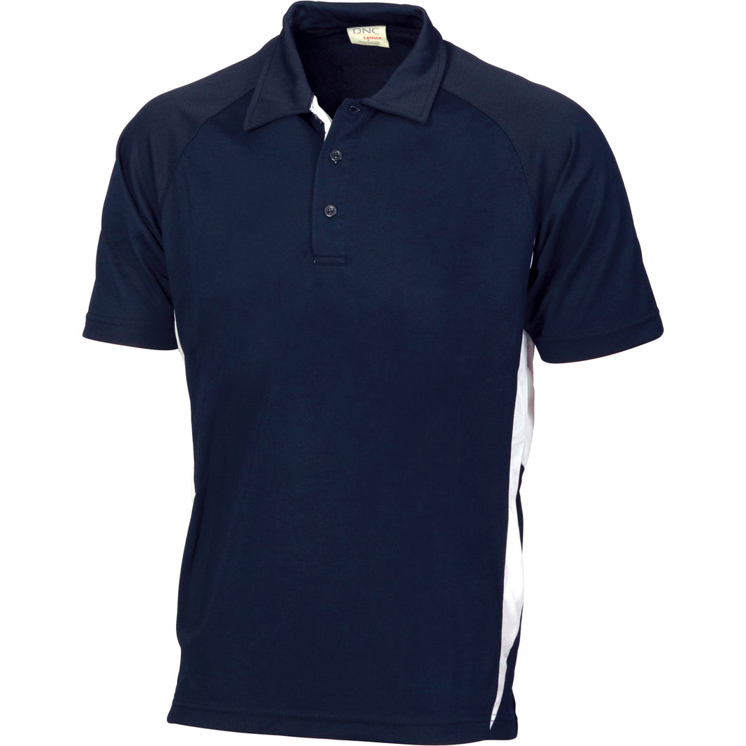 Adult Cool-Breathe Contrast Polo - 5221