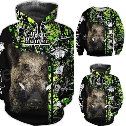 3D Boar Hunter Camo Hoodie, Jacket or Sweatshirt.