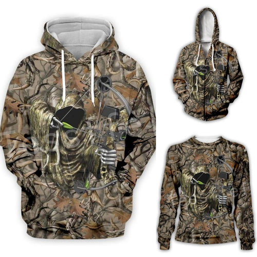 3D Camo Bow Hunter Hoodie, Jacket or Sweatshirt