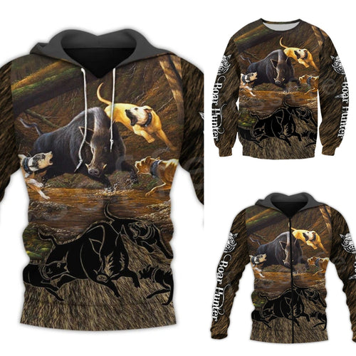 3D Boar Hunter/Pigging Hoodie, Jacket or Sweatshirt