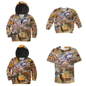 Kids 3D Animal Camo Hoodie, Jacket, Sweatshirt or T-shirt