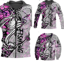 Load image into Gallery viewer, 3D Fishing Hoodies, Jacket or sweatshirt