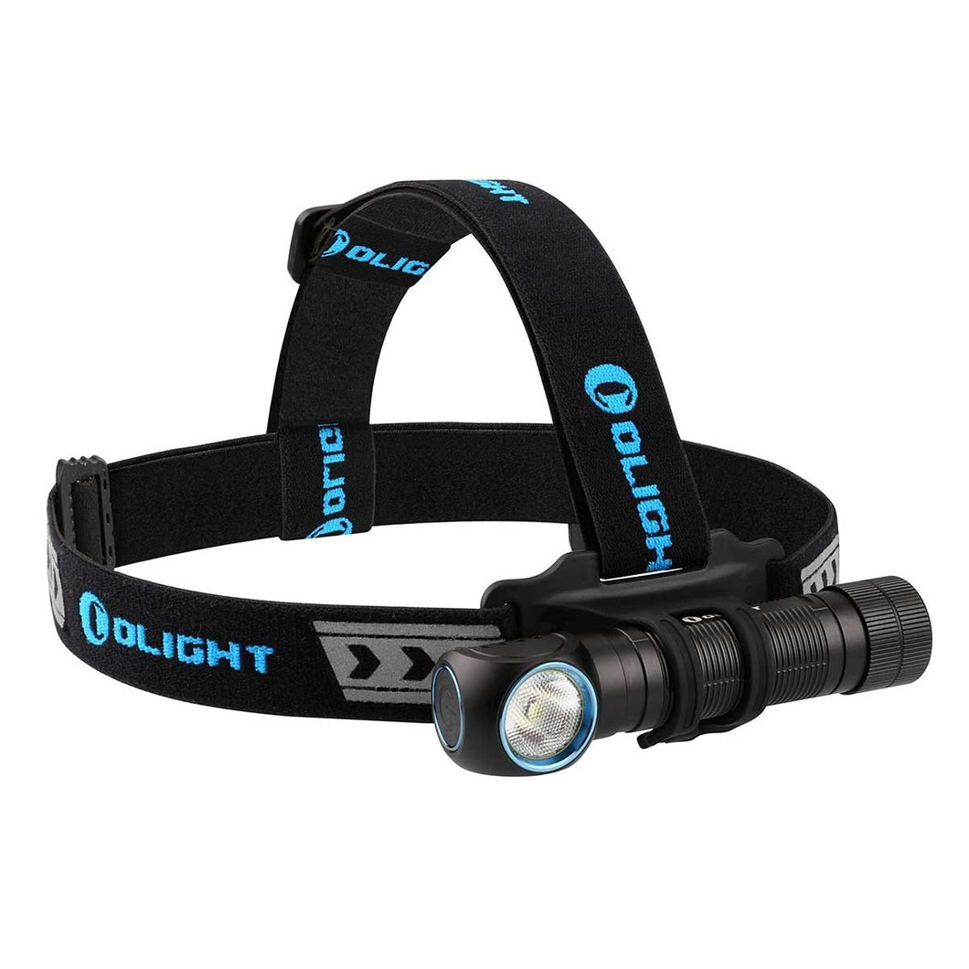 Olight H2R 2300 lumen rechargeable LED headlamp and angle torch