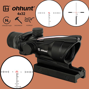 4X32 ACOG Scope with BDC/Chevron/Horseshoe Reticle