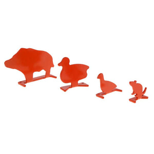 4pcs Metal Animal Plinking Target