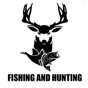 Fishing and Hunting Animal Sticker