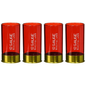 12 Gauge Plastic Shot Glass (Pack Of 4)