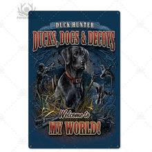 Load image into Gallery viewer, Man cave Hunting Tin Signs