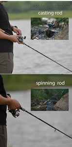 Bait casting or spinning fishing rod