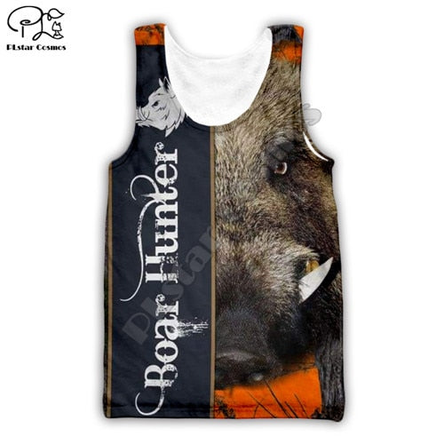 3D Boar Hunter Singlet