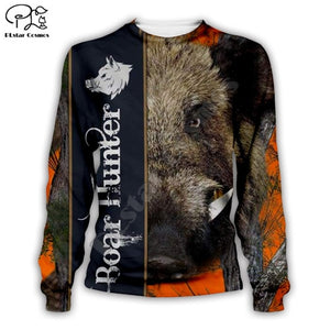 3D Boar Hunter Sweat Shirt