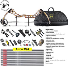 Load image into Gallery viewer, 19-70lbs Archery Right Handed Compound Bow Set