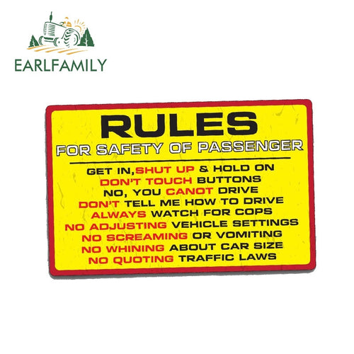 RULES SAFETY Sticker