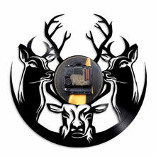 Load image into Gallery viewer, Wall Clock Wild Deer Hunters