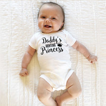 "Load image into Gallery viewer, Baby girls ""Daddy's Hunting Princess"" Outfit"
