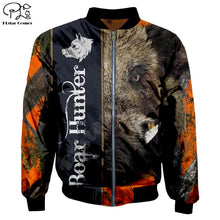 Load image into Gallery viewer, 3D Boar Hunter Unisex Bomber Jacket