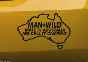 Aussie Man Vs Wild Sticker