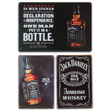 Load image into Gallery viewer, Man Cave Alcohol Tin Signs (20 Different styles)