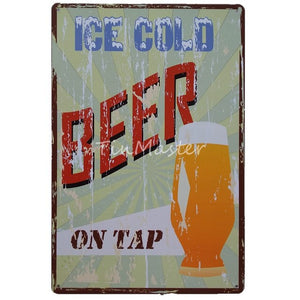 Man Cave Alcohol Tin Signs (20 Different styles)