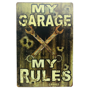 My Garage My Rules Metal Tin Sign
