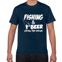Load image into Gallery viewer, Fishing & Beer Living The Dream T-shirt