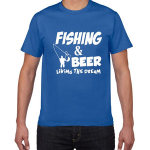 Fishing & Beer Living The Dream T-shirt