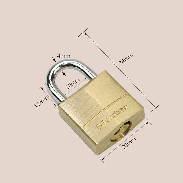 Master Solid Brass Padlock (S,M,L)