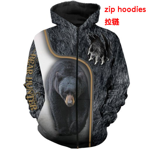3D Bear Hunter Jacket