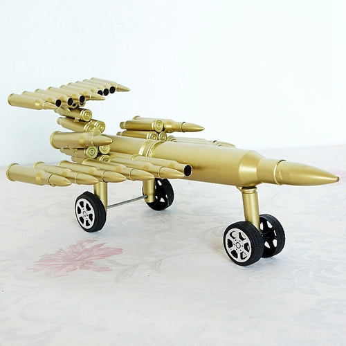 Handcrafted Bullet Shell Casings Airplane