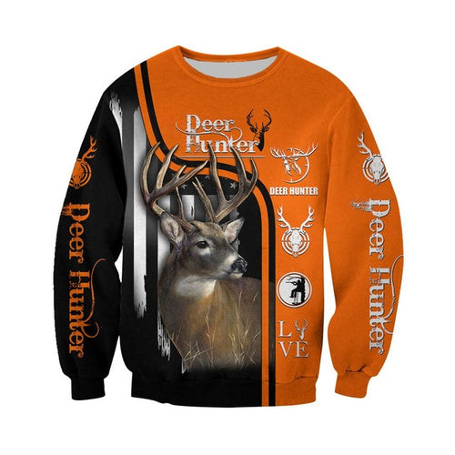 3D Deer Hunter Sweatshirt