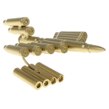 Load image into Gallery viewer, Handcrafted Bullet Casings Army Aircraft Model