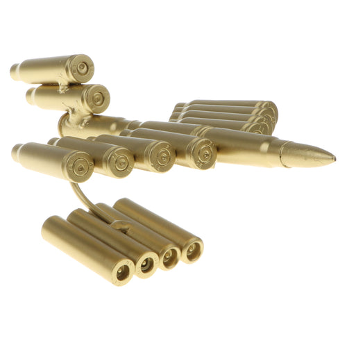 Handcrafted Bullet Casings Army Aircraft Model