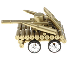 Load image into Gallery viewer, Handcrafted Bullet Casings Mini Army Tank Model