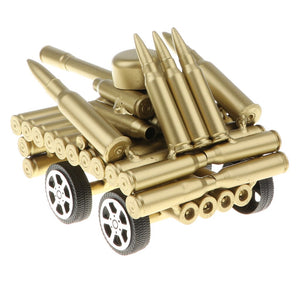 Handcrafted Bullet Casings Mini Army Tank Model